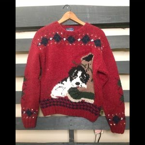 Vintage woolrich puppy sweater large